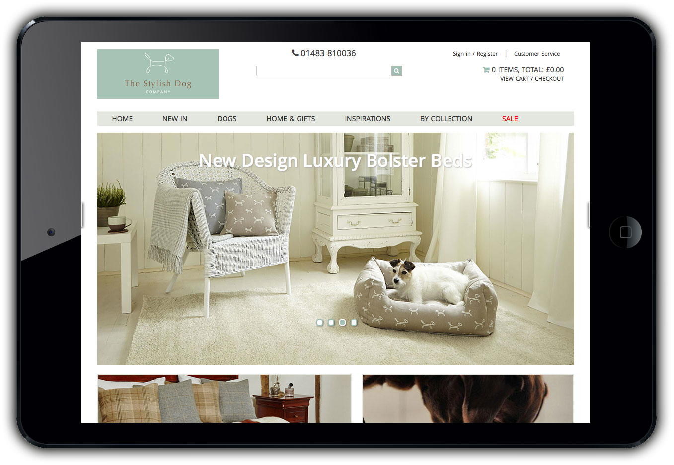 The Stylish Dog Company Web Site Design Ipad