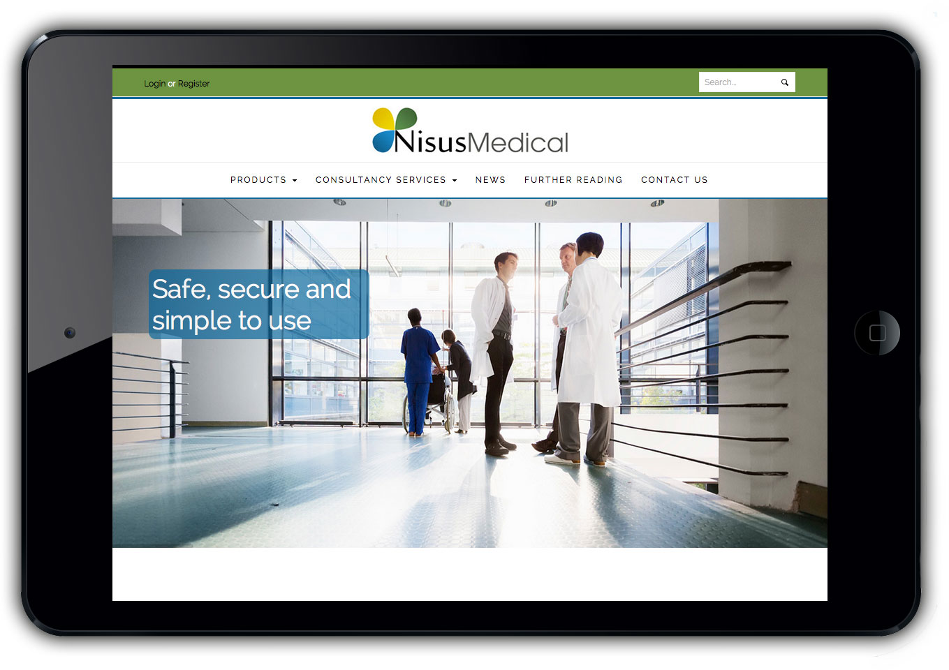 Nisus Medical Website Design