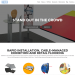 Stand out from the crowd! New exhibition and retail flooring website