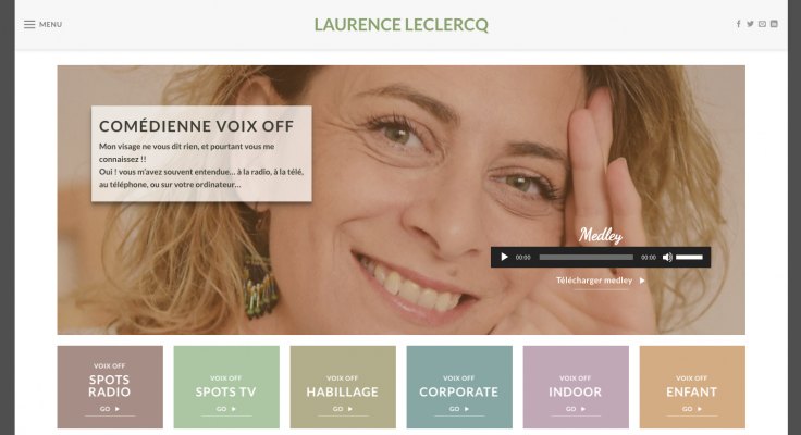 Laurence Leclercq Voice over artist website